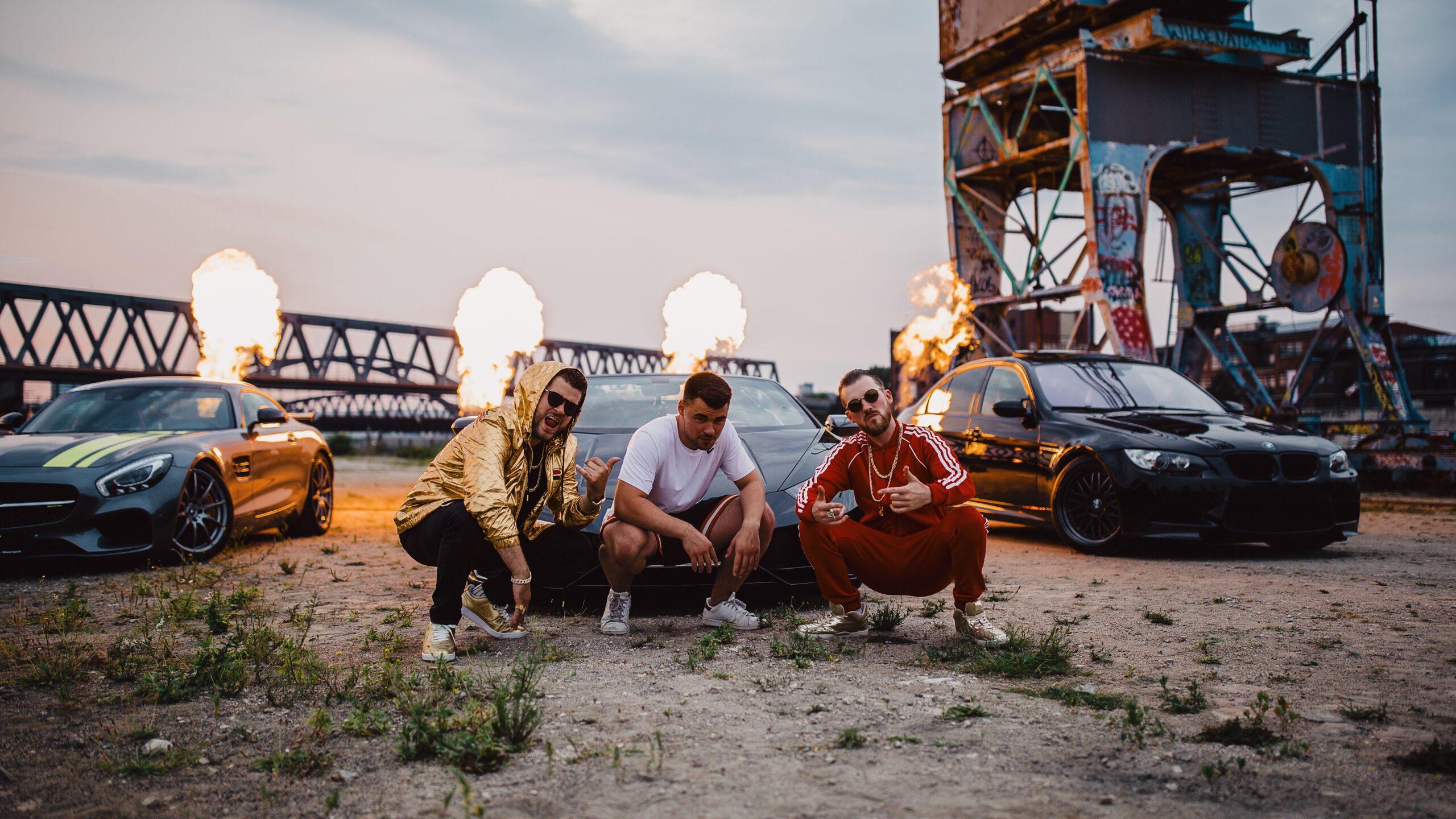 Benjamin Lehmann und die Band Olauka beim Musikvideodreh von DEIN TRAUM